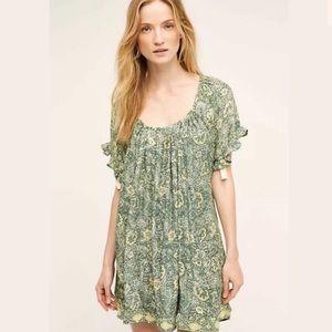 NAT by Natalie Martin Marina Silk Dress Green